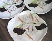 Lotus - Vintage Red Wing Salad Plate Set