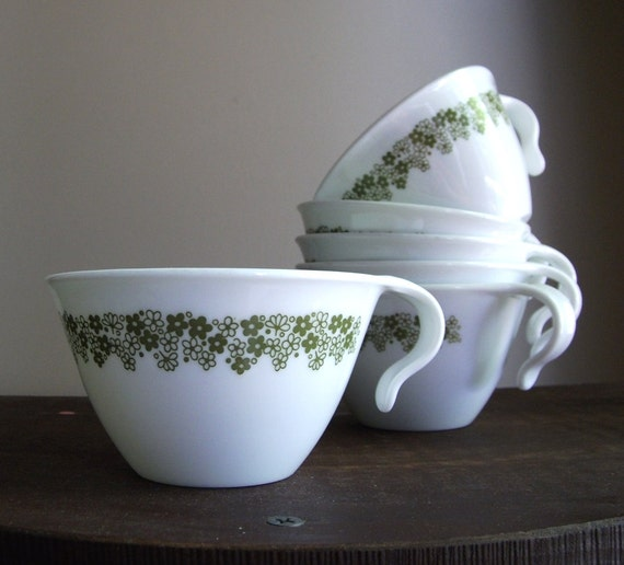 Vintage Corelle by Corning Coffee Cup Set - Crazy Daisy