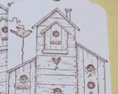 Bird House Tags