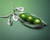 Sweet Peas in a Pod Necklace (2, 3, or 4 peas)