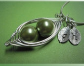 Peas in a Pod Necklace (2, 3, or 4 peas)