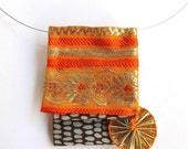 End of the year sale Sunny Origami fiber necklace