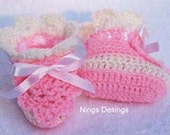 Easy to Make AMAZINGCROCHET Pink Pineapple Booties crochet pattern PDF download
