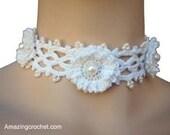 Easy 1 hour Project Bridal Mom Choker crochet pattern by AMAZINGCROCHET