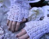 AMAZINGCROCHET Bridal Fingerless Gloves Crochet Pattern