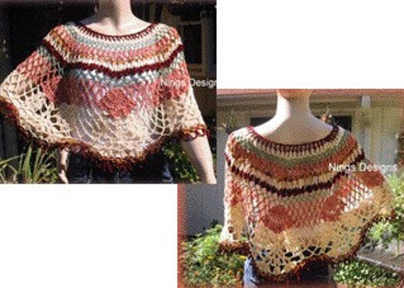 CROCHET LACY PATTERN PONCHO « CROCHET FREE PATTERNS