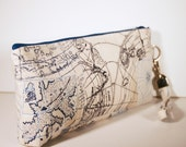 Old World Nautical Map Wristlet
