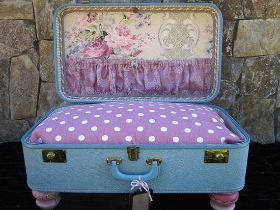 Dog Bed Vintage Suitcase.....