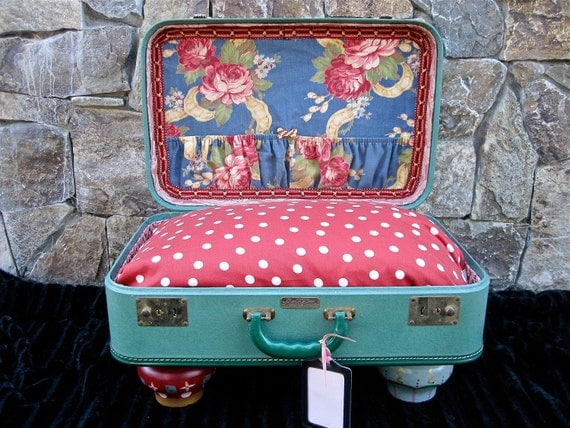 handmade suitcase dog bed 2