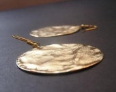 Hammered  Disc On 14k gold filled Earrings