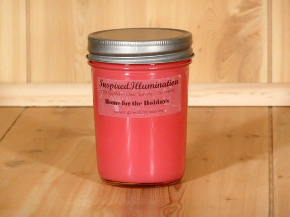 Home for the Holidays Scented 8oz Soy Jelly Jar