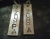 ZUMBA Earrings with Sterling Silver ear wires - OOAK - perfect X-MAS gift for your teachers