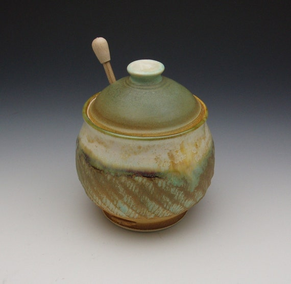 Handmade Ceramic Honey Pot