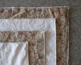 Cloth Napkin - Natural - Cocktail - 10 Inch Reversible Cotton (25.4 cm)