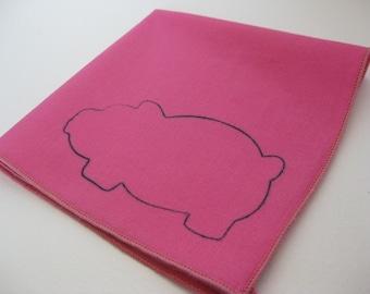 Cloth Napkins - Pig Pink - Cotton Cocktail Napkins