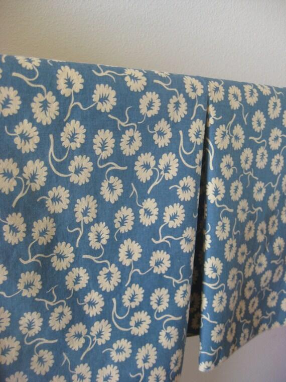 Tea Towel - Blue Blooms Set - 17 x 24 Cotton (43 cm x 61 cm)