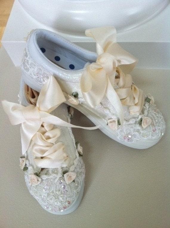 Ivory Wedding Tennis Shoes
