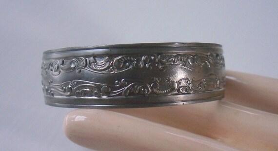 Vintage Steel Art Nouveau Cuff Bracelet