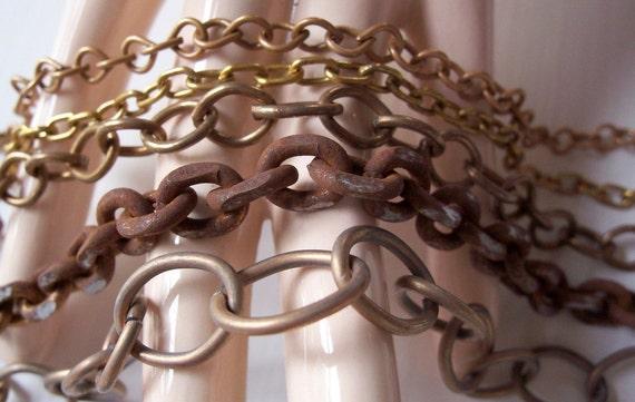 Vintage Chain Destash Lot - Assorted Vintage Chain Lot