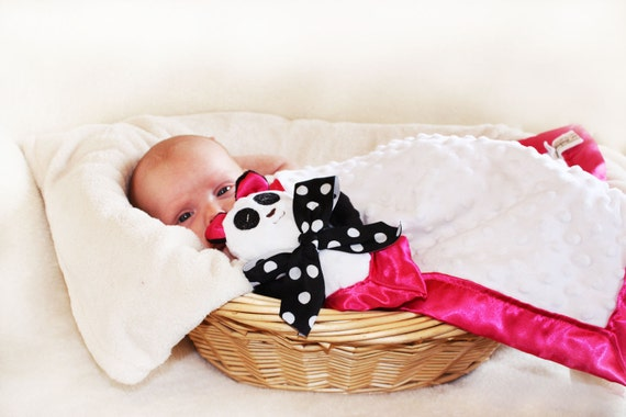 Items Similar To Minky Panda Bear Security Blanket Lovey