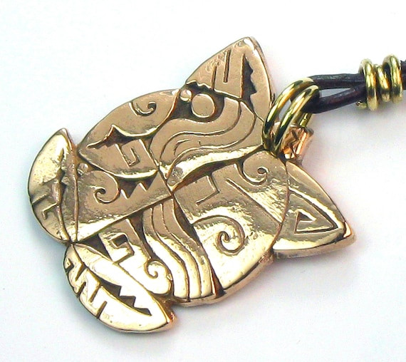 RESERVED FOR BERND -Native American Turtle Necklace - Kiln Fired Bronze