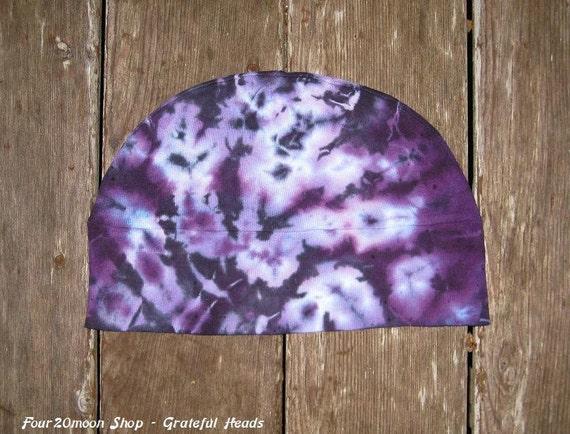 Tie Dye Skull Cap - Purple Daze - Grateful Heads Charity