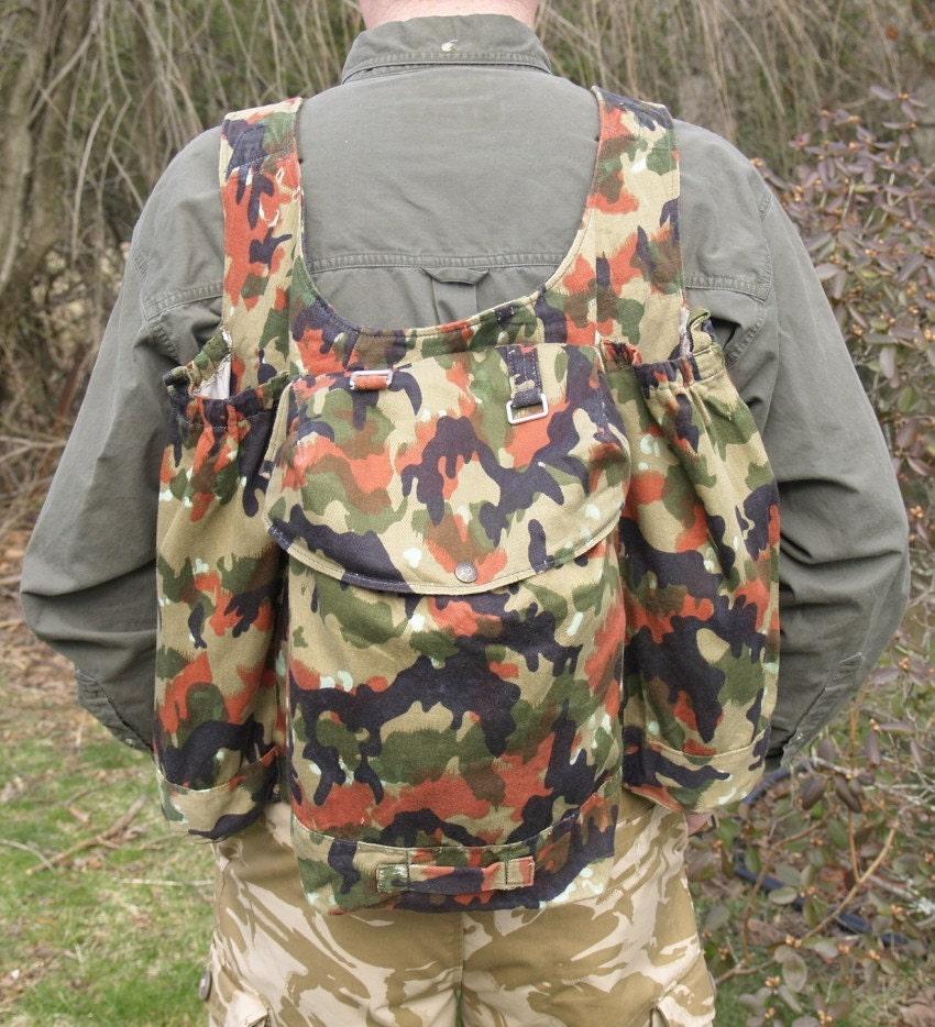 Vintage Swiss Military Alpenflage Rucksack Backpack Daypack