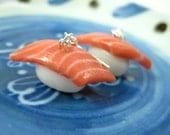 Mini Salmon Sushi Earrings