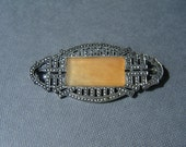 Sterling Silver Marcasite Brooch Pin