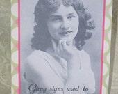 Gang Signs Zany Victorian Card