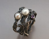 Special order for Colleen - Twig Stacking Ring Set of 3 in Sterling Silver
