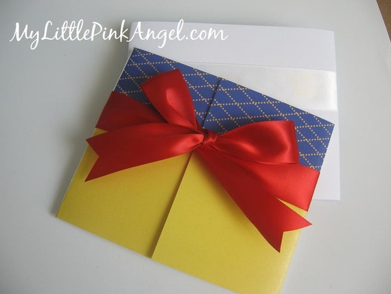 Princess Invitation ///  Handmade