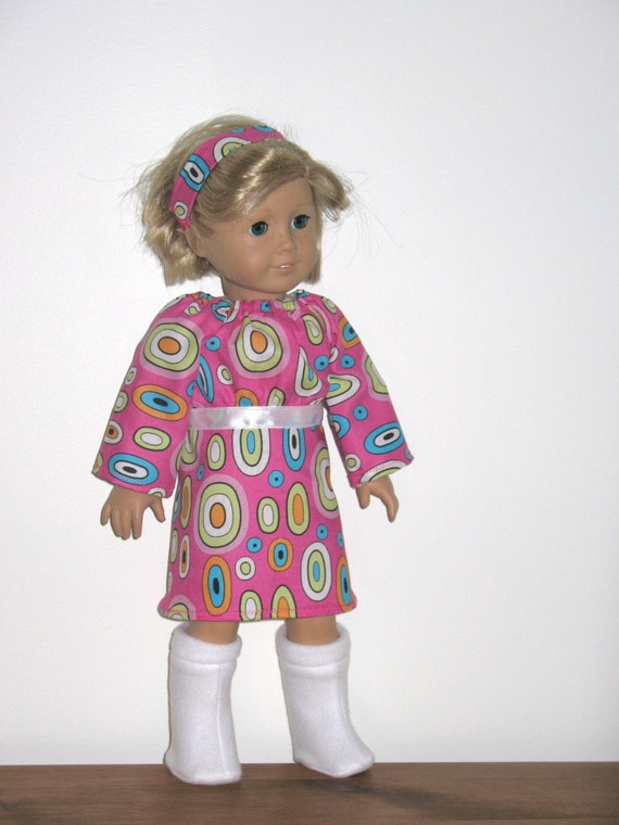 American Girl Doll Clothes, Retro Go Go Dress and Boots