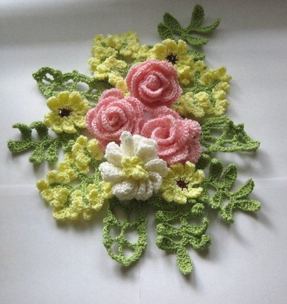 Items similar to Crochet Flower Bouquet on Etsy