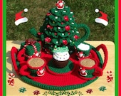 Christmas Party Tea Set. Crochet Pattern