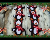 Polly Penguin Scarf And Christmas Polly Penguin Scarf Crochet Patterns. 2 Styles To Make.
