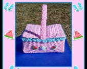 Children's Play Picnic Basket Crochet Pattern