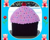 3  Sizes Of Cup Cake Back Packs And 1 Size Lunch Bag  Crochet Patterns.