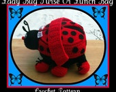 I love Lady Bugs Purse Or Lunch Bag Crochet Pattern.This Is Not A Flat Purse.