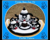 Panda Bear Teapot Set Crochet Patterns