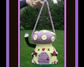 Cute Mushroom House Purse Crochet Pattern.Purse Will Not Sag.