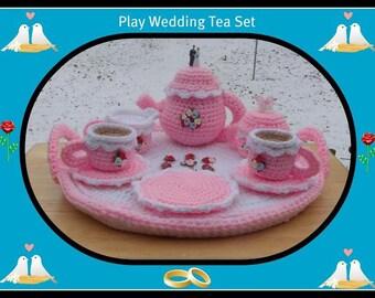 Play  Wedding Tea Set Crochet Pattern