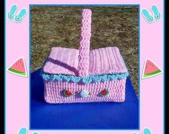 Children's Play Picnic Basket Crochet Pattern