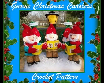 Gnome Christmas Carolers Crochet Pattern