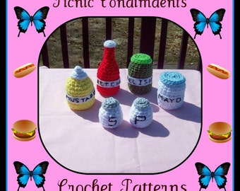 Picnic Condimdents Crochet Patterns