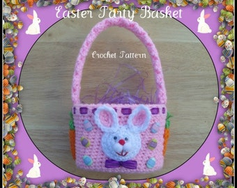 Easter Party Basket Crochet Pattern.Great for Boy Or Girl.Just Change The Color.