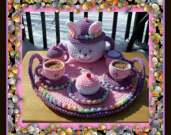 Miss Bunny Tea Set Crochet Pattern