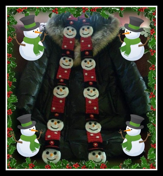 Frosty Snowman Scarf. Crochet Pattern. This Pattern Makes All