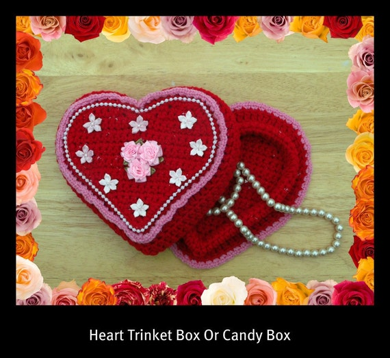 Heart Trinket Or Gift Box Crochet Pattern