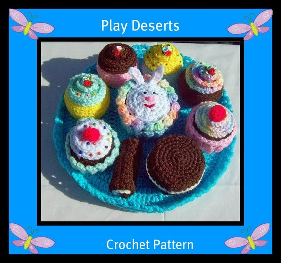 Easy Deserts And Plate Crochet Pattern